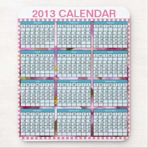 Calendario en un Mousepad Tapetes De Raton