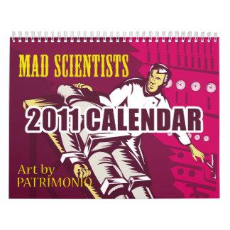 Calendario enojado de la fantasía 2011 del científ