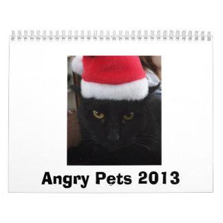 Calendario enojado de los mascotas