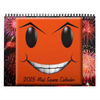 Calendario enojado del cuadrado 2015