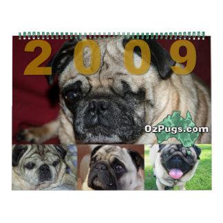 Calendario enorme de OzPugs 2009