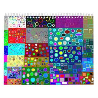 Calendario enrrollado del diseño
