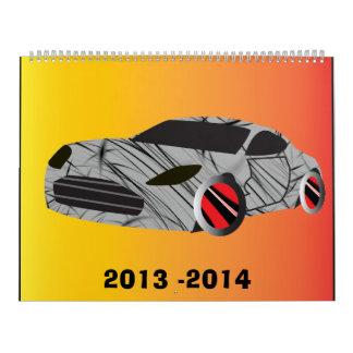Calendario épico 2013 - 2014 del coche
