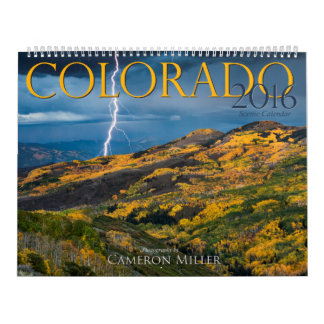 Calendario escénico 2016 de Colorado