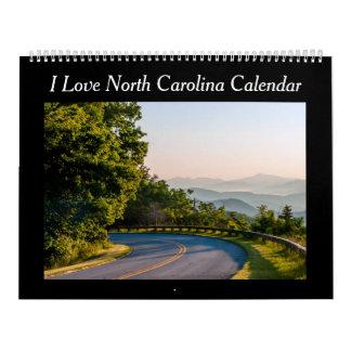 Calendario escénico de Carolina del Norte