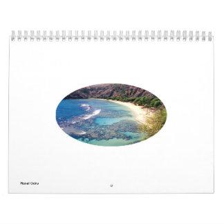 Calendario escénico de Oahu Hawaii