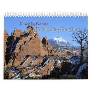 Calendario escénico del paisaje