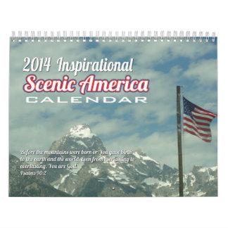 Calendario escénico inspirado de América