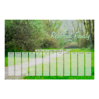 Calendario especial de los días de la familia de l poster