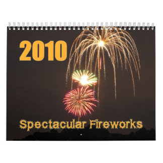 Calendario espectacular de los fuegos artificiales