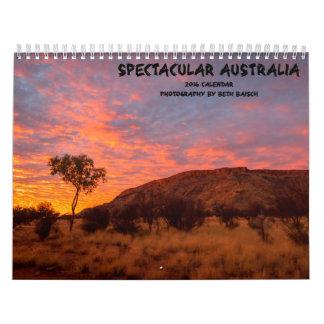 Calendario espectacular del paisaje de Australia -