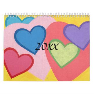 Calendario estacional impreso personalizado