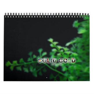 Calendario estándar del Goldfish del ORO SÓLIDO de