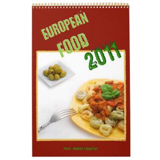 Calendario europeo de la comida 2011