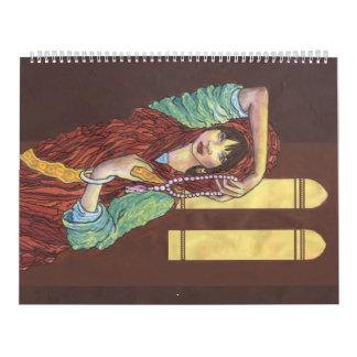 Calendario exótico de las mujeres