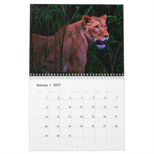 Calendario exótico de los animales