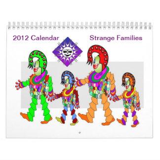 Calendario extraño de las familias 2012