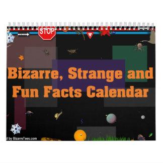Calendario extraño, extraño y de los datos diverti