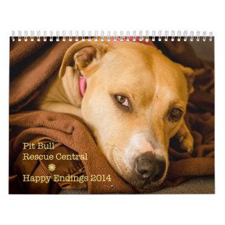 Calendario feliz 2014 del pitbull de las conclusio