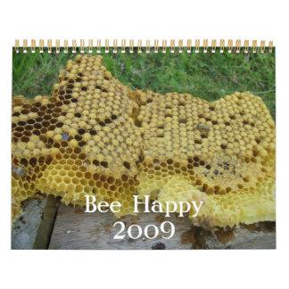 Calendario feliz de la abeja