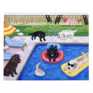 Calendario feliz de Labradors A 2014