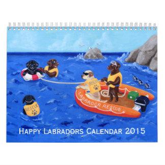 Calendario feliz de Labradors B 2015