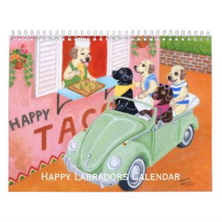 Calendario feliz de Labradors C 2016