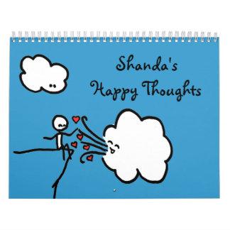 Calendario feliz de los pensamientos de Shanda