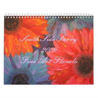 Calendario floral 2009 de la bella arte