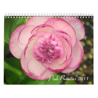 Calendario floral 2011 de las bellezas rosadas
