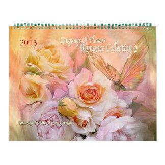 Calendario floral 2013 del arte de la colección 2