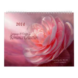 Calendario floral 2014 del arte de la colección