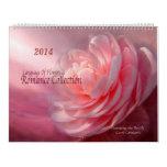 Calendario floral 2014 del arte de la colección ro