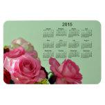 Calendario floral 2015 por el imán de Janz 4x6