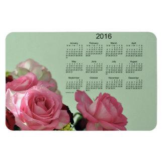 Calendario floral 2016 por el imán de Janz 4x6