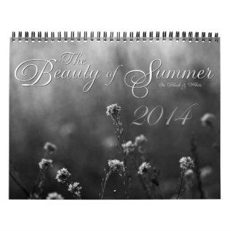 Calendario floral blanco y negro de encargo 2014