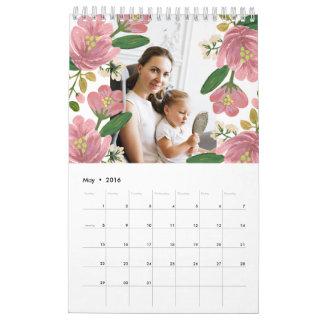 Calendario floral de encargo