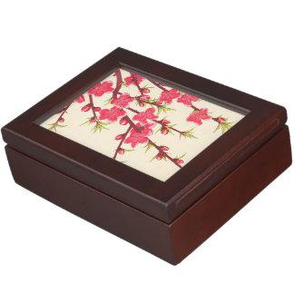 Calendario floral de Kawarazaki Shodo de la cereza Cajas De Recuerdos