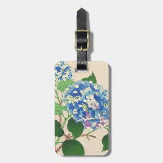 Calendario floral de Kawarazaki Shodo de la flor d Etiqueta De Equipaje