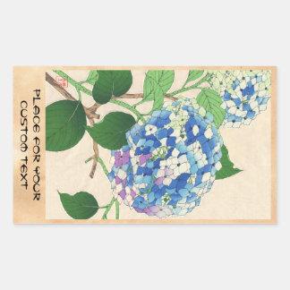 Calendario floral de Kawarazaki Shodo de la flor d Rectangular Pegatinas