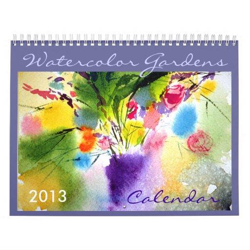 Calendario floral de la acuarela 2013