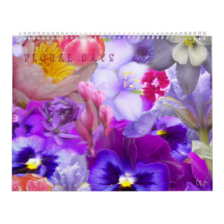 Calendario floral de la colección de los días