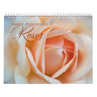Calendario floral de la fotografía 2013 de los ros