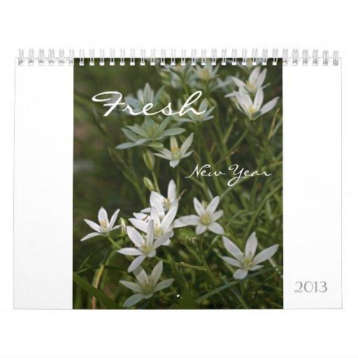 Calendario floral del Año Nuevo 2013 frescos