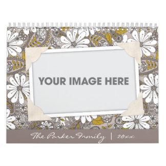 Calendario floral del libro de recuerdos de