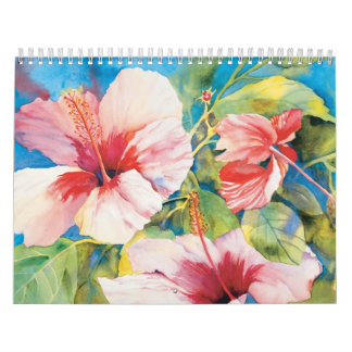 Calendario floral hawaiano