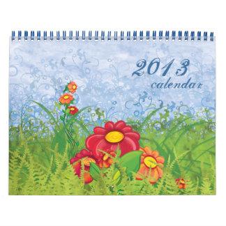 Calendario floral hermoso 2013