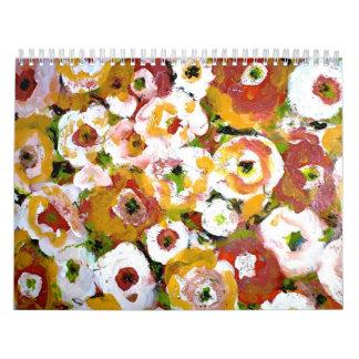 Calendario floral impresionista