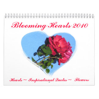 Calendario floreciente de los corazones 2010