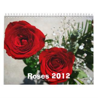 Calendario floreciente de los rosas 2012 de fotogr